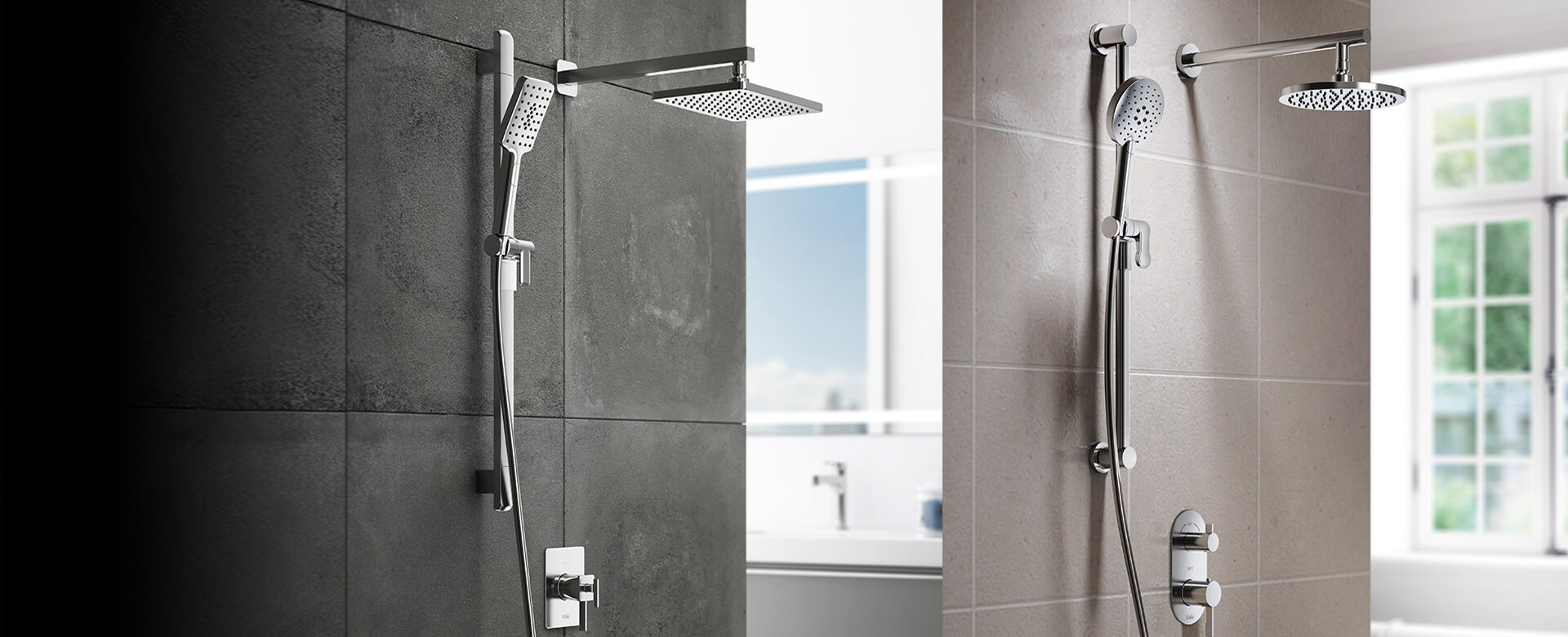 NEW: RoundOne & SquareOne SHOWER SYSTEMS