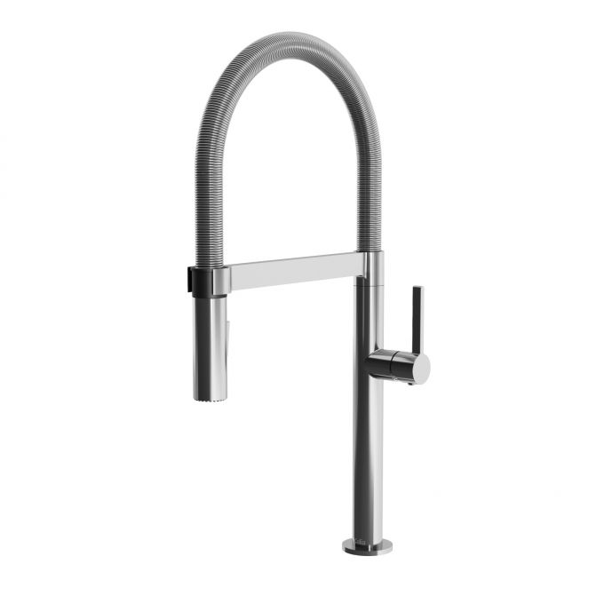 Exki Pull Down Kitchen Faucet With Spring Spout And